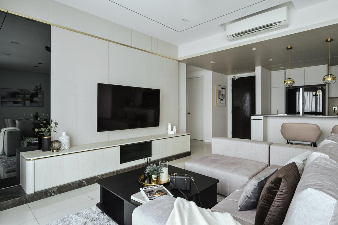 Happy Garden, Kuala Lumpur, IQI Concept Interior Design & Renovation, Modern, Contemporary, Living Room, Condo