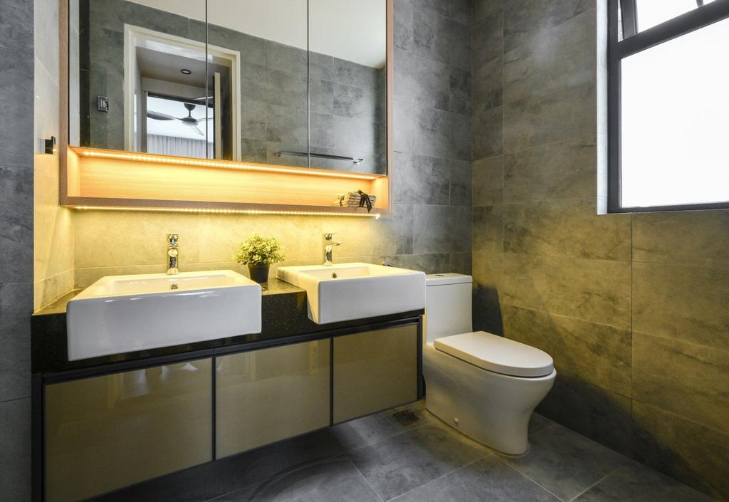 Modern, Condo, Bathroom, Happy Garden, Kuala Lumpur, Interior Designer, IQI Concept Interior Design & Renovation, Contemporary