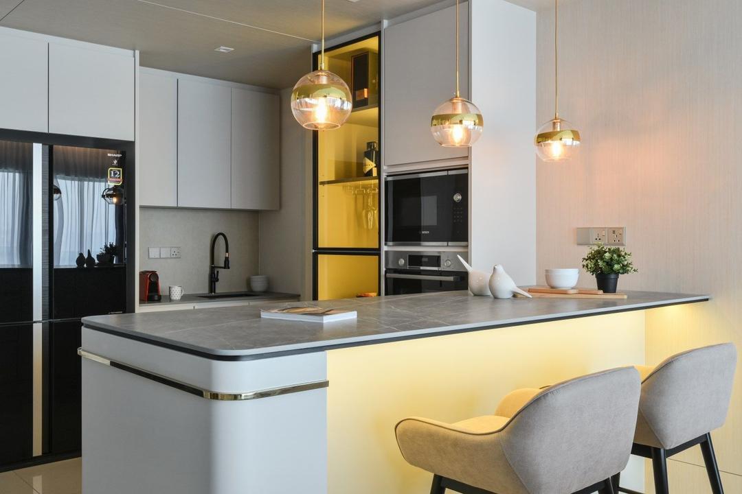 Happy Garden, Kuala Lumpur, IQI Concept Interior Design & Renovation, Modern, Contemporary, Dining Room, Condo