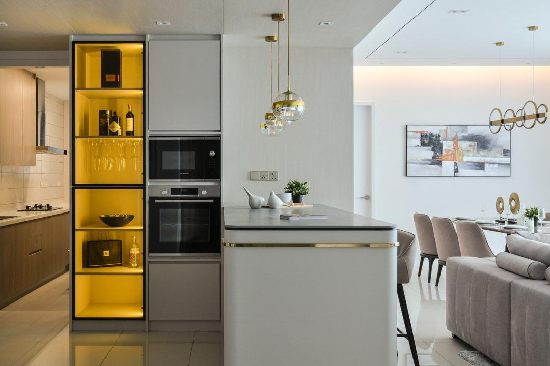 Happy Garden, Kuala Lumpur, IQI Concept Interior Design & Renovation, Modern, Contemporary, Kitchen, Condo