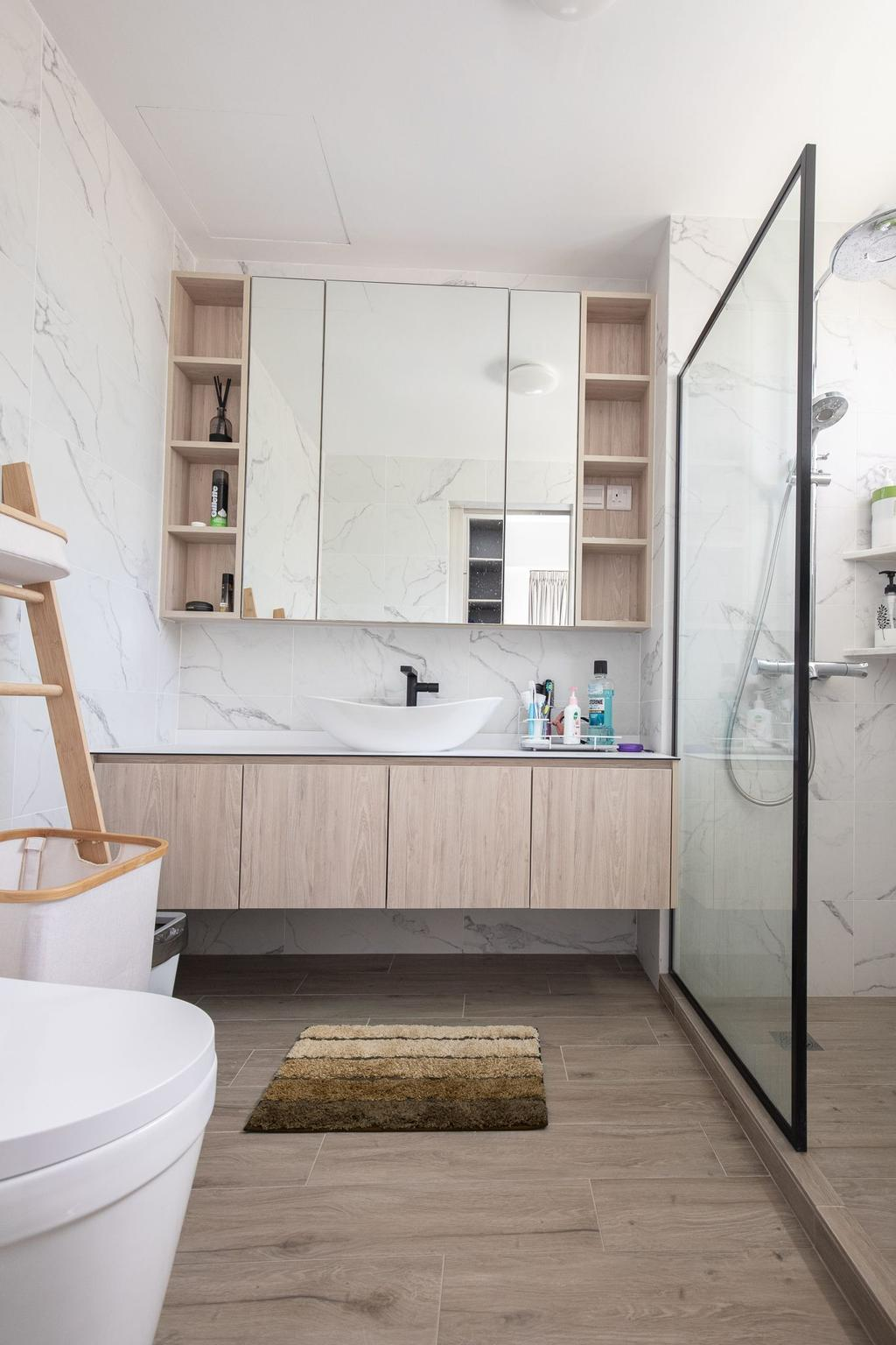 Scandinavian, Condo, Bathroom, Dover Parkview, Interior Designer, Albedo Design
