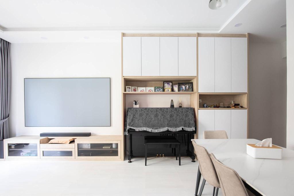 Scandinavian, Condo, Living Room, Dover Parkview, Interior Designer, Albedo Design