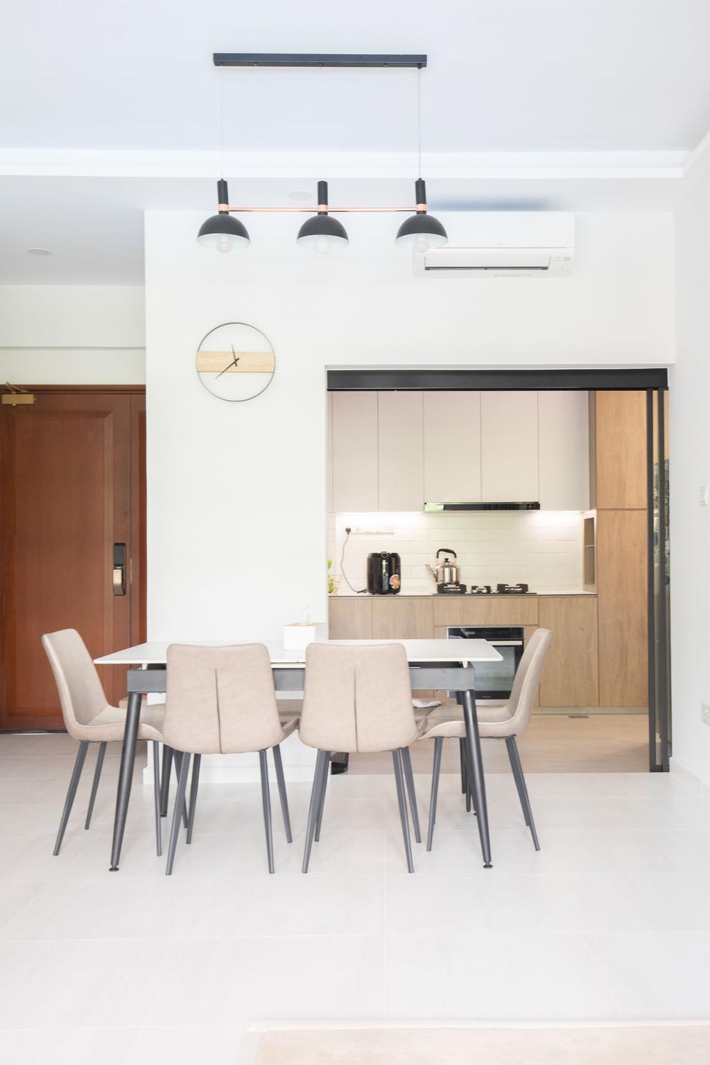Scandinavian, Condo, Dining Room, Dover Parkview, Interior Designer, Albedo Design