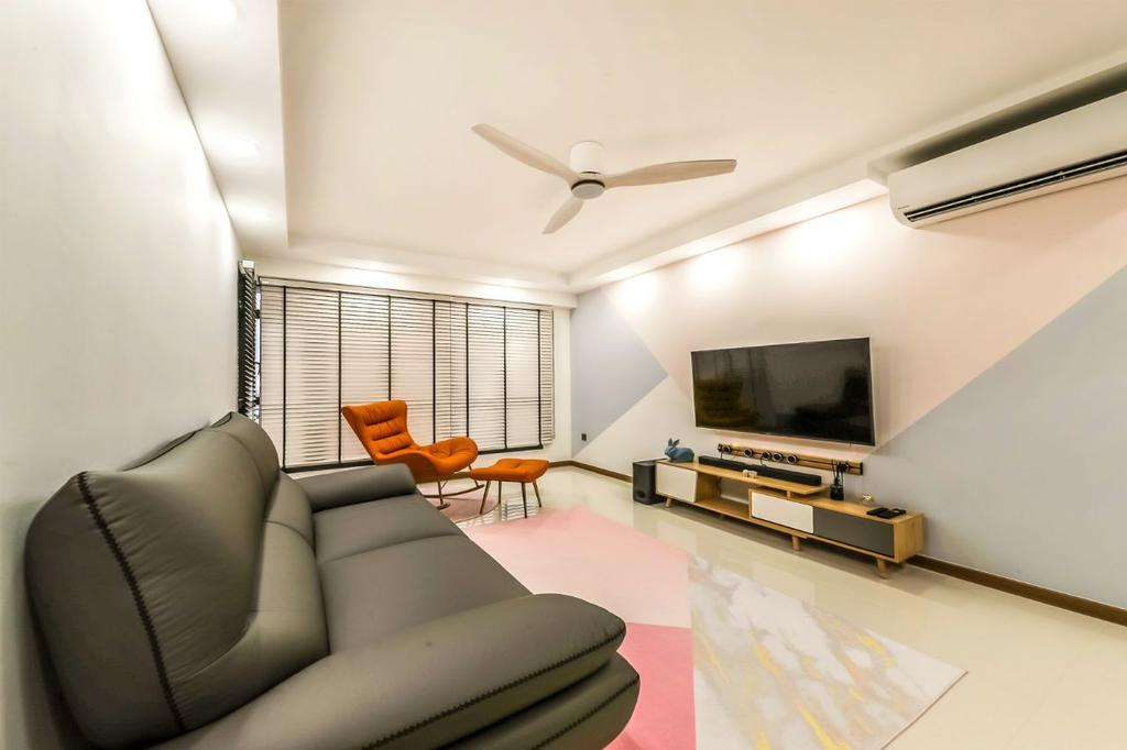 Contemporary, HDB, Living Room, Bidadari Park Drive, Interior Designer, AC Vision Design, Scandinavian