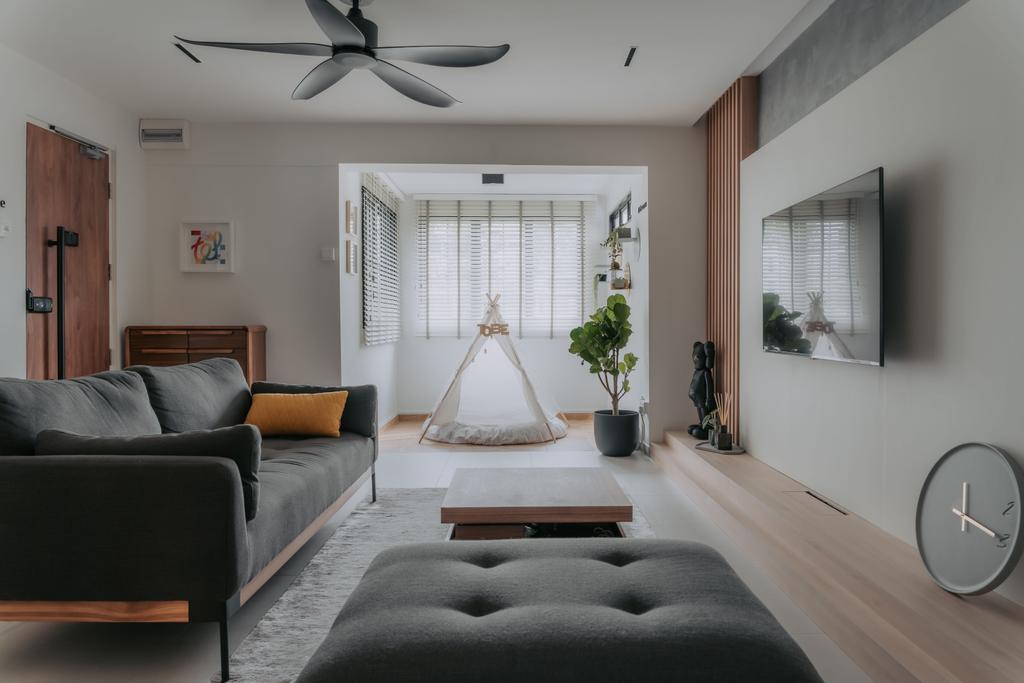 Scandinavian, HDB, Living Room, Lorong Lew Lian, Interior Designer, Key Concept