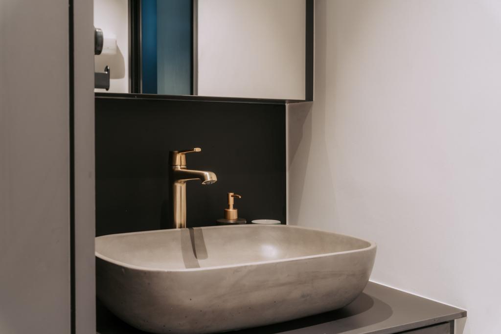 Scandinavian, HDB, Bathroom, Lorong Lew Lian, Interior Designer, Key Concept