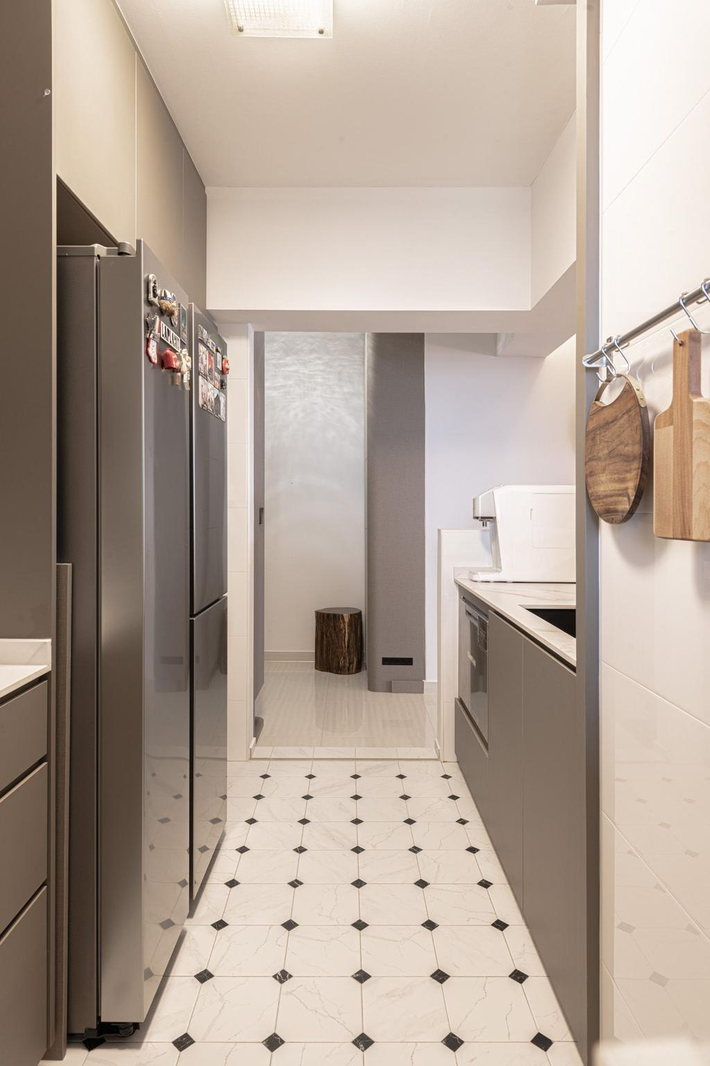 Contemporary, HDB, Kitchen, Clementi Avenue 4, Interior Designer, Mr Designer Studio