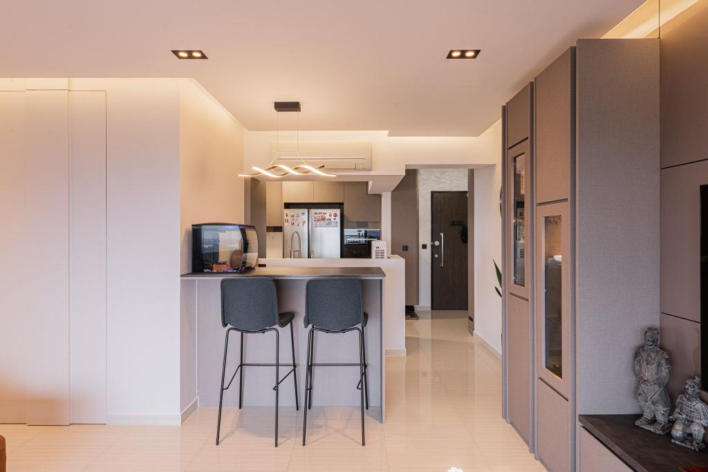 Contemporary, HDB, Dining Room, Clementi Avenue 4, Interior Designer, Mr Designer Studio
