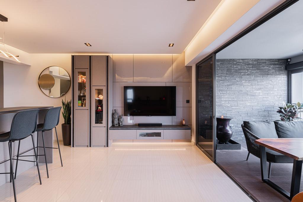 Contemporary, HDB, Living Room, Clementi Avenue 4, Interior Designer, Mr Designer Studio