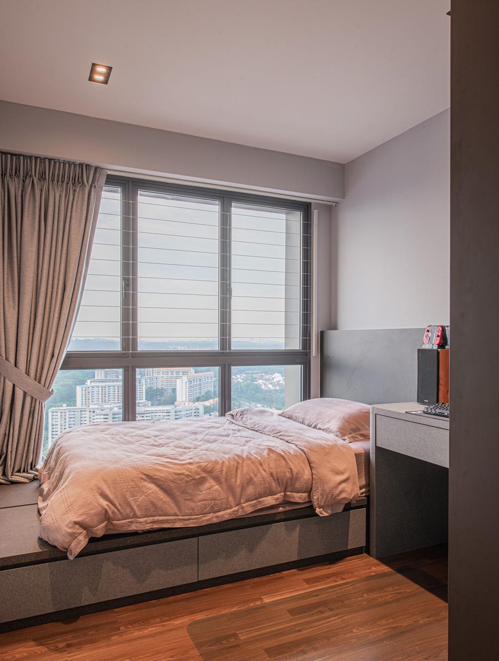 Contemporary, HDB, Bedroom, Clementi Avenue 4, Interior Designer, Mr Designer Studio