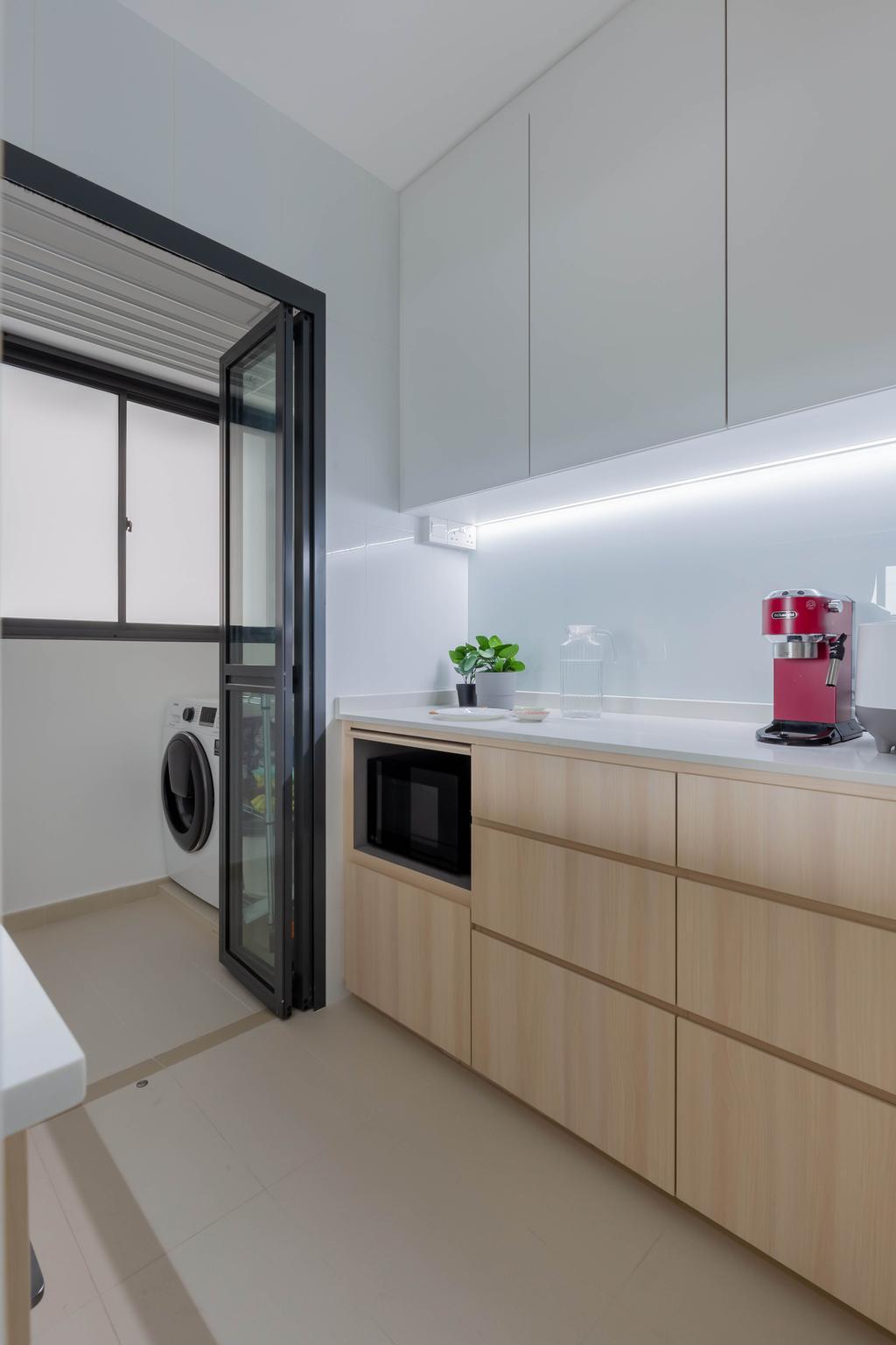 Scandinavian, HDB, Kitchen, Skyparc @ Dawson, Interior Designer, Yang's Inspiration Design