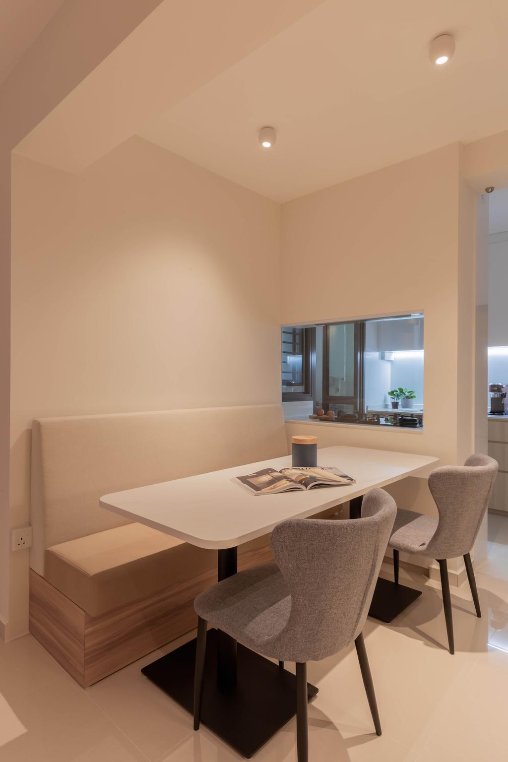Scandinavian, HDB, Dining Room, Skyparc @ Dawson, Interior Designer, Yang's Inspiration Design