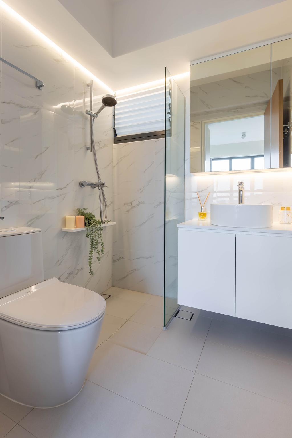 Scandinavian, HDB, Bathroom, Skyparc @ Dawson, Interior Designer, Yang's Inspiration Design