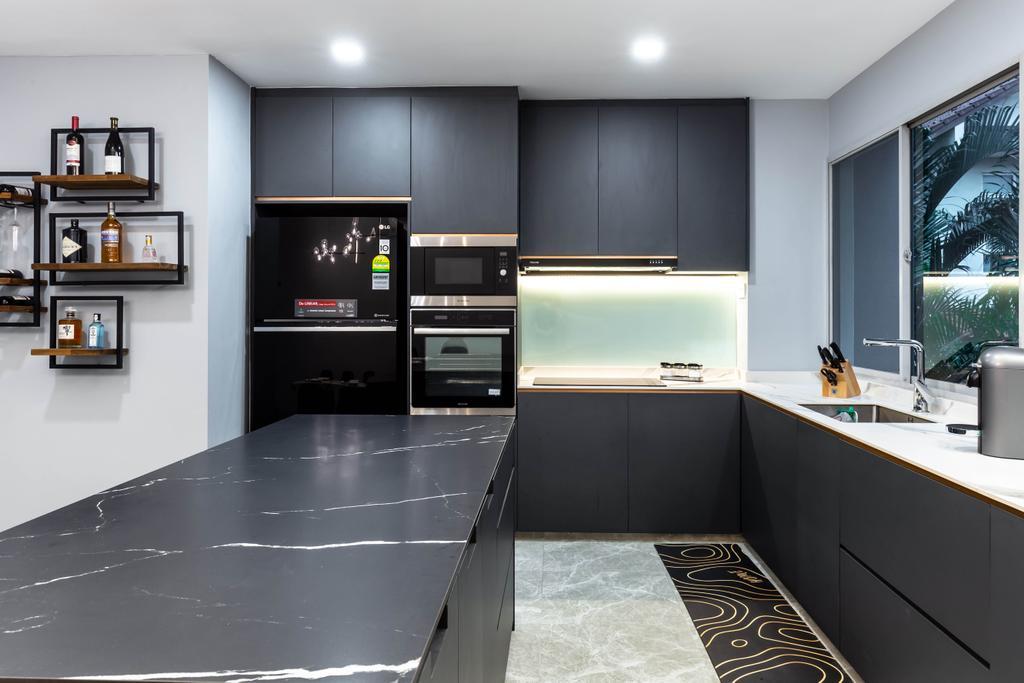 Contemporary, Condo, Kitchen, Springhill, Interior Designer, SHE Interior