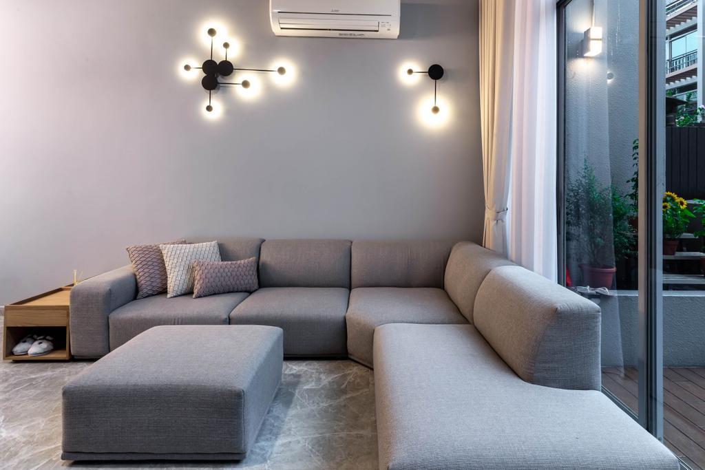 Contemporary, Condo, Living Room, Springhill, Interior Designer, SHE Interior