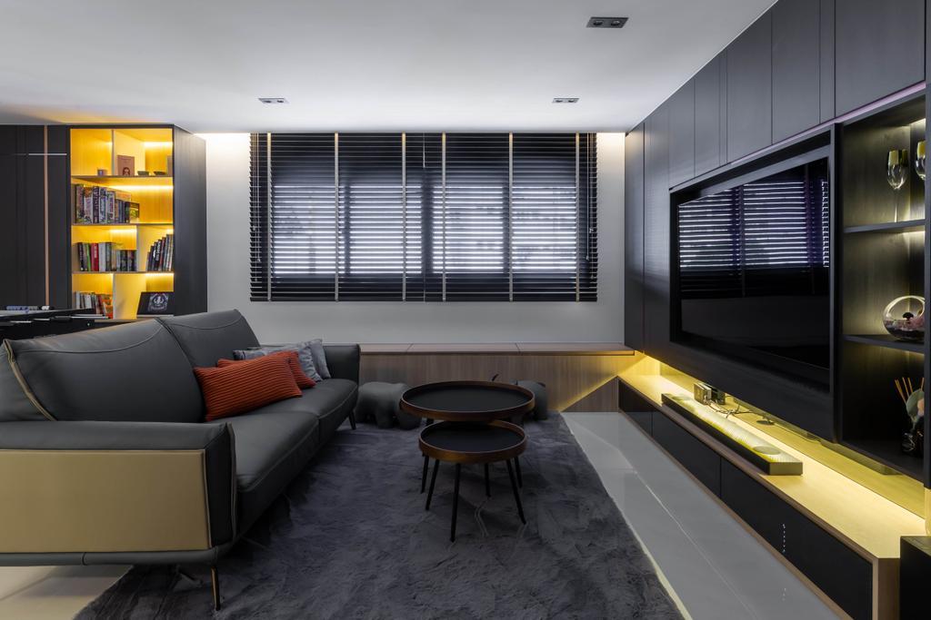 Contemporary, HDB, Living Room, Woodlands Street 41, Interior Designer, SHE Interior