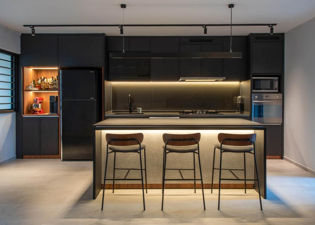 Contemporary, HDB, Kitchen, Yung Ho Road, Interior Designer, Dyel Design, Industrial