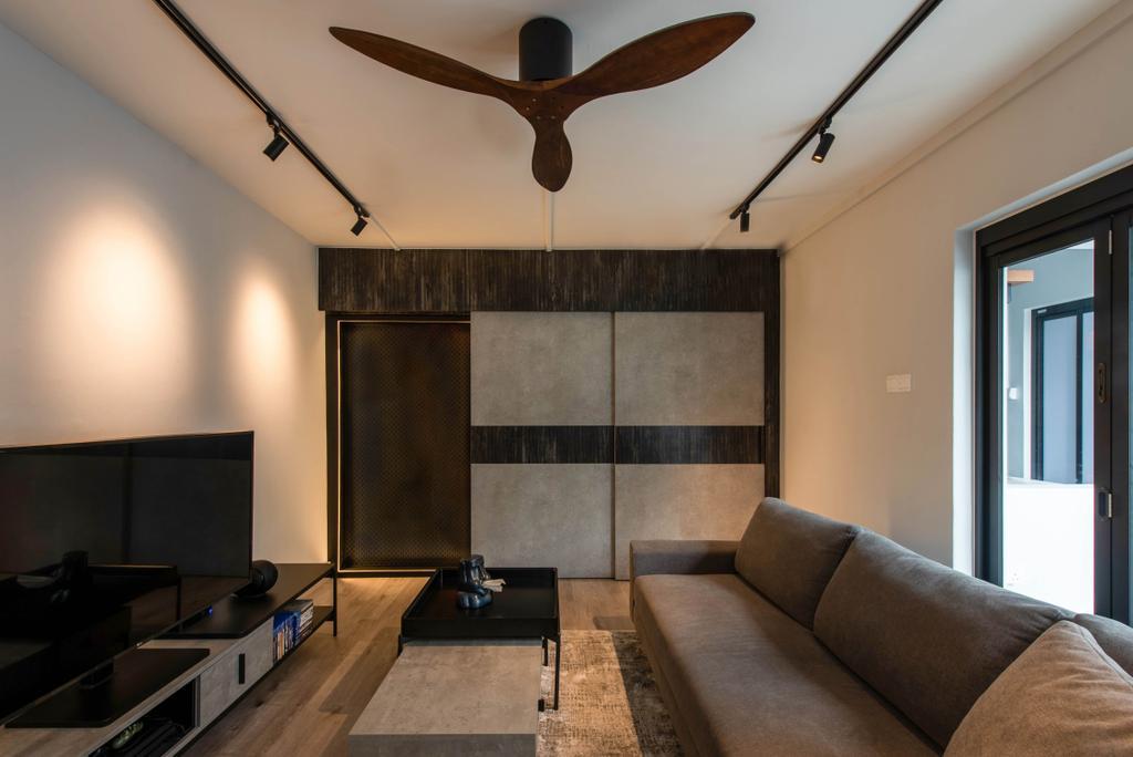 Contemporary, HDB, Living Room, Yung Ho Road, Interior Designer, Dyel Design, Industrial