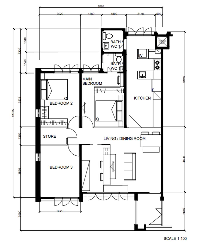 Contemporary, HDB, Yishun Street 21, Interior Designer, Metier Planner