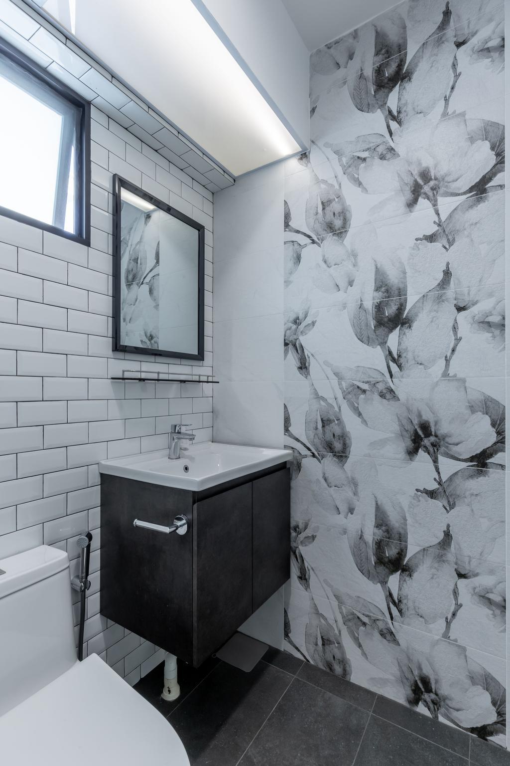 Contemporary, HDB, Bathroom, Senja Road, Interior Designer, EA Interior Design, Scandinavian