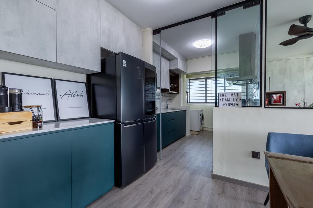 Contemporary, HDB, Kitchen, Senja Road, Interior Designer, EA Interior Design, Scandinavian