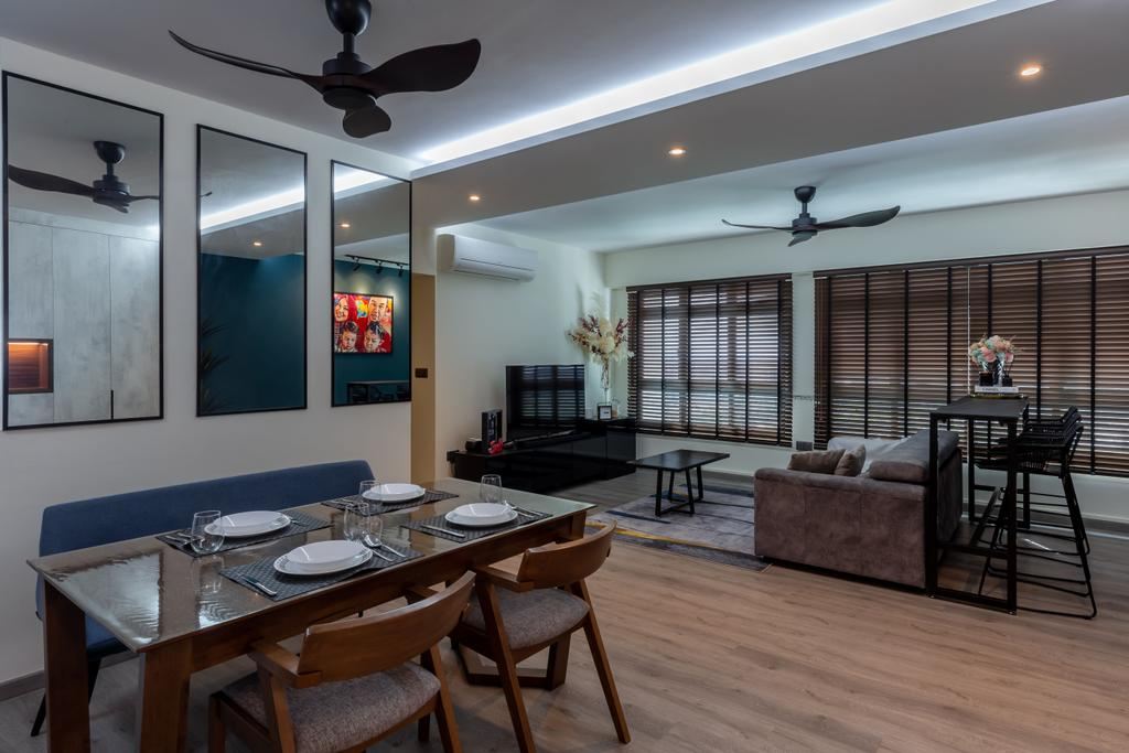 Contemporary, HDB, Dining Room, Senja Road, Interior Designer, EA Interior Design, Scandinavian