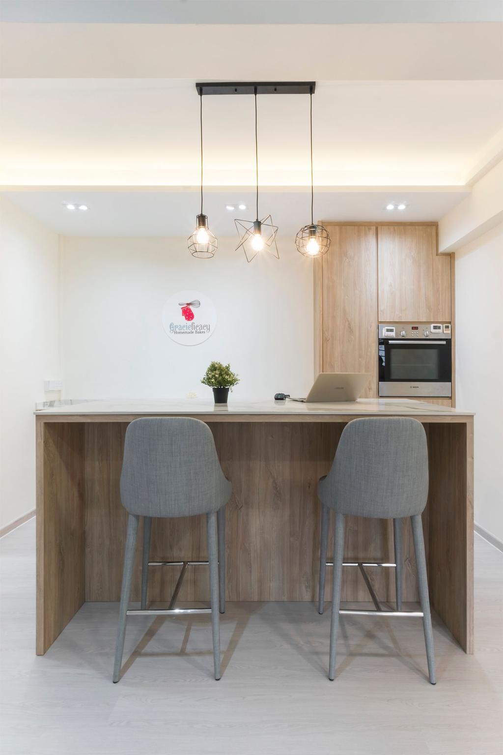 Scandinavian, HDB, Dining Room, Senja Road, Interior Designer, Flo Design
