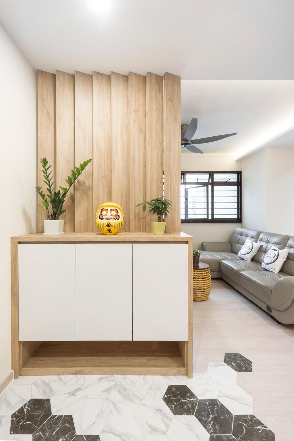 Scandinavian, HDB, Living Room, Senja Road, Interior Designer, Flo Design