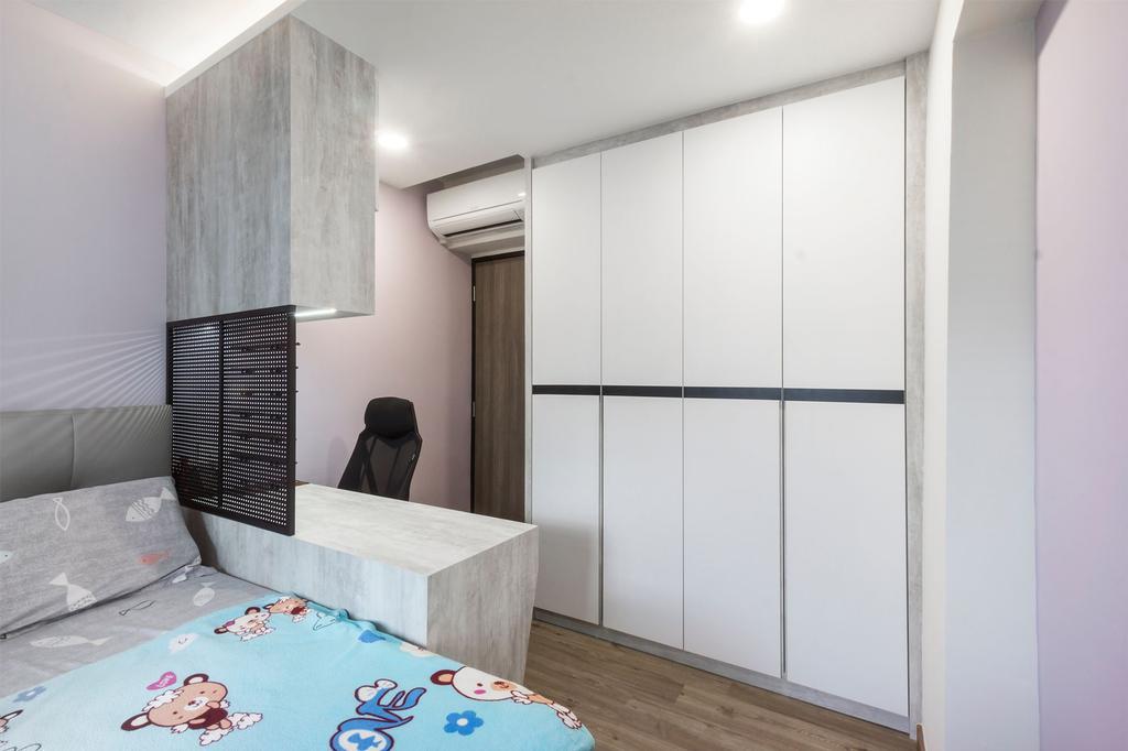 Scandinavian, HDB, Bedroom, Senja Road, Interior Designer, Flo Design