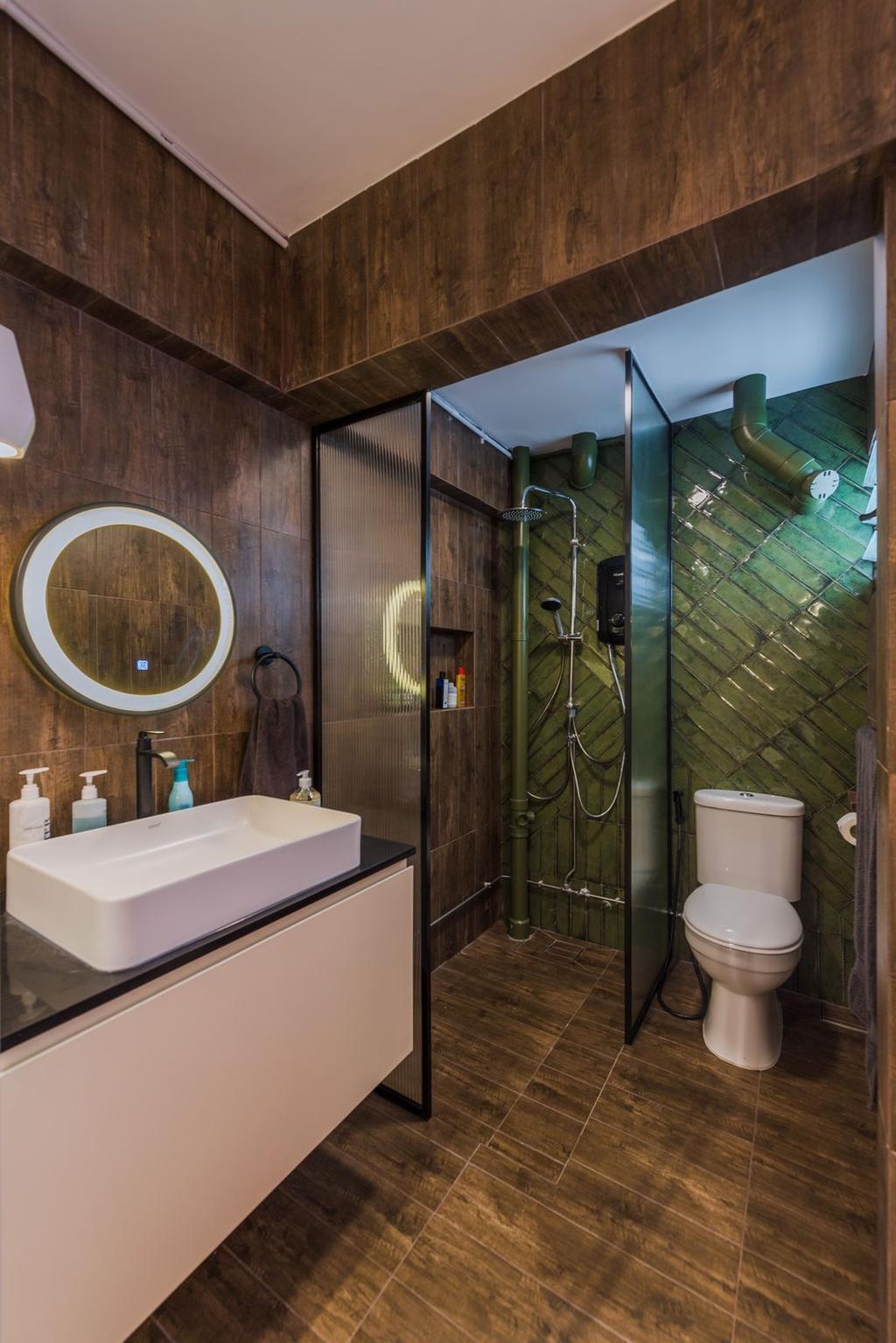 Contemporary, HDB, Bathroom, Clementi Avenue 4, Interior Designer, Archive Design