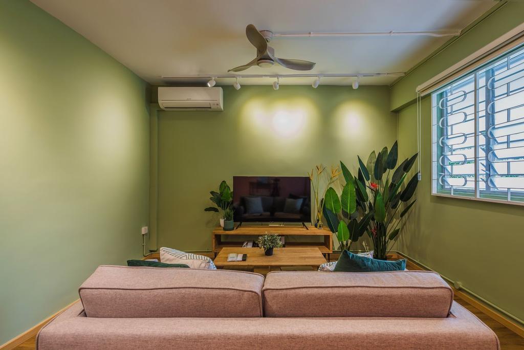 Contemporary, HDB, Living Room, Clementi Avenue 4, Interior Designer, Archive Design