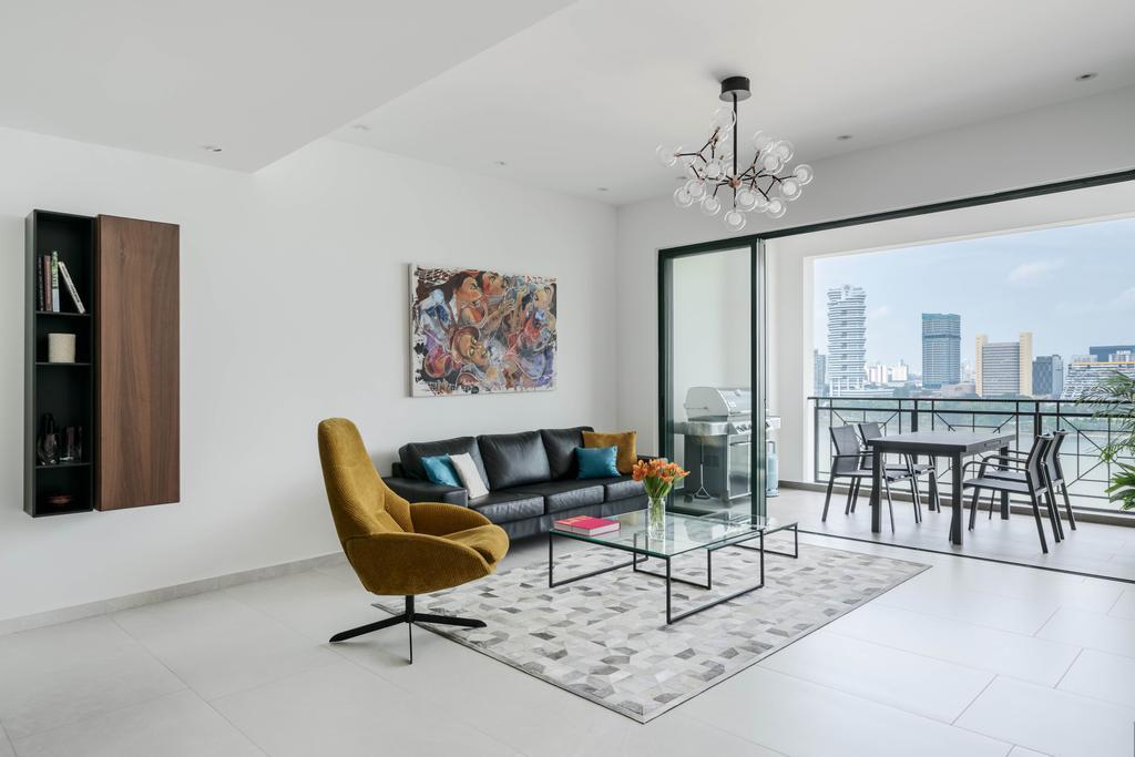Contemporary, Condo, Living Room, Pebble Bay, Interior Designer, T&T Design Artisan