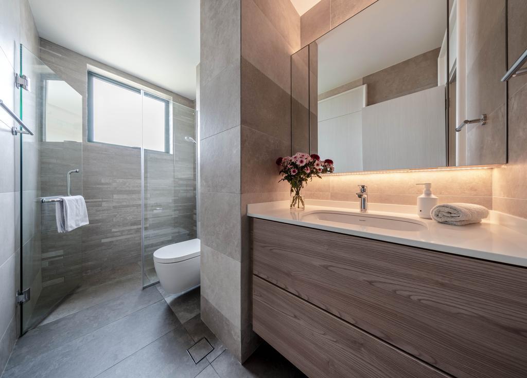 Contemporary, Condo, Bathroom, Pebble Bay, Interior Designer, T&T Design Artisan