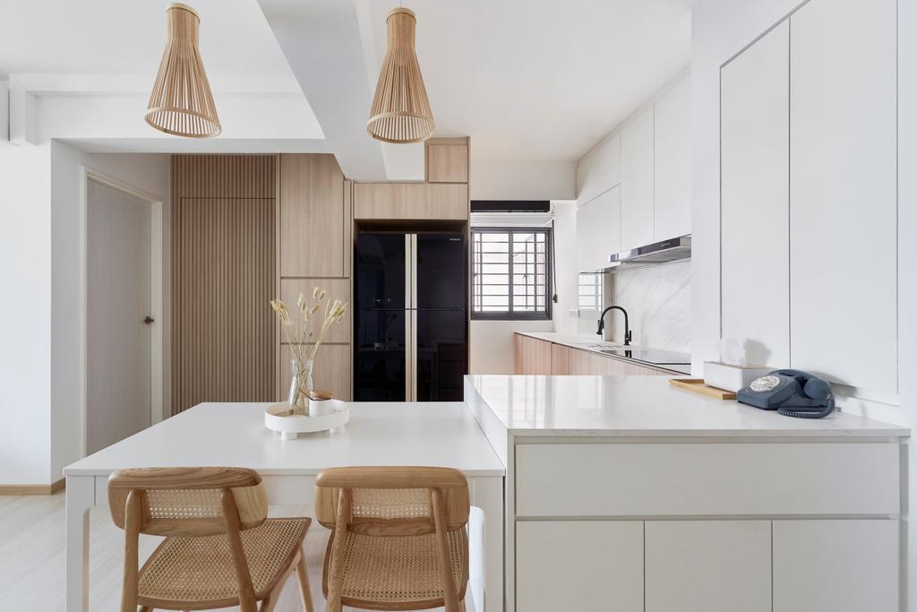 Contemporary, HDB, Dining Room, Bidadari Park Drive, Interior Designer, Lemonfridge Studio