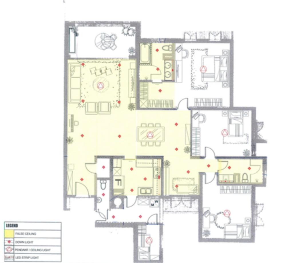 Contemporary, Condo, Pebble Bay, Interior Designer, T&T Design Artisan, 4 Bedder Condo Floorplan, Type C 1, Final Floorplan