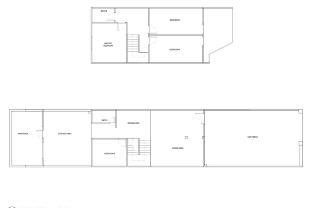 St Francis Road, Lemonfridge Studio, Scandinavian, Landed, Landed Floorplan, Before Floorplan