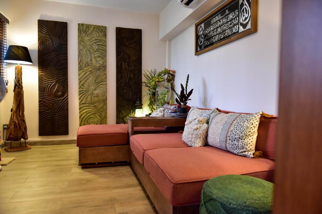 Ang Mo Kio Avenue 10, Ataz Haus Interior Design, Traditional, Living Room, HDB