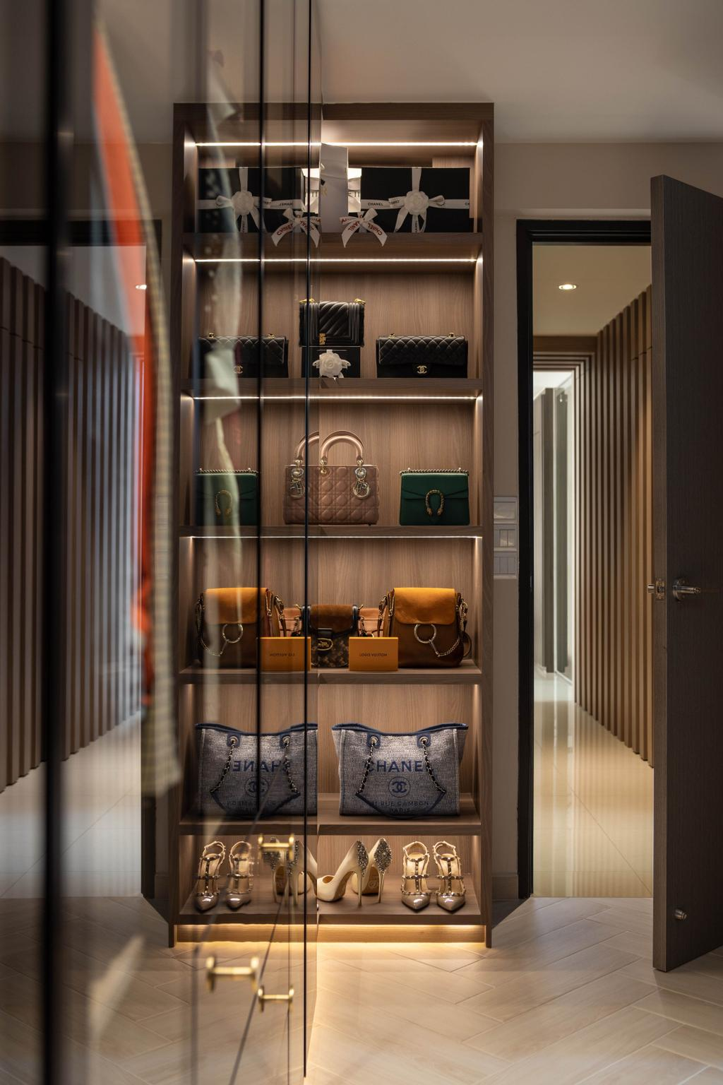 Contemporary, HDB, Bedroom, Bishan Street 24, Interior Designer, Rockin Spaces, Collection, Bags, Display