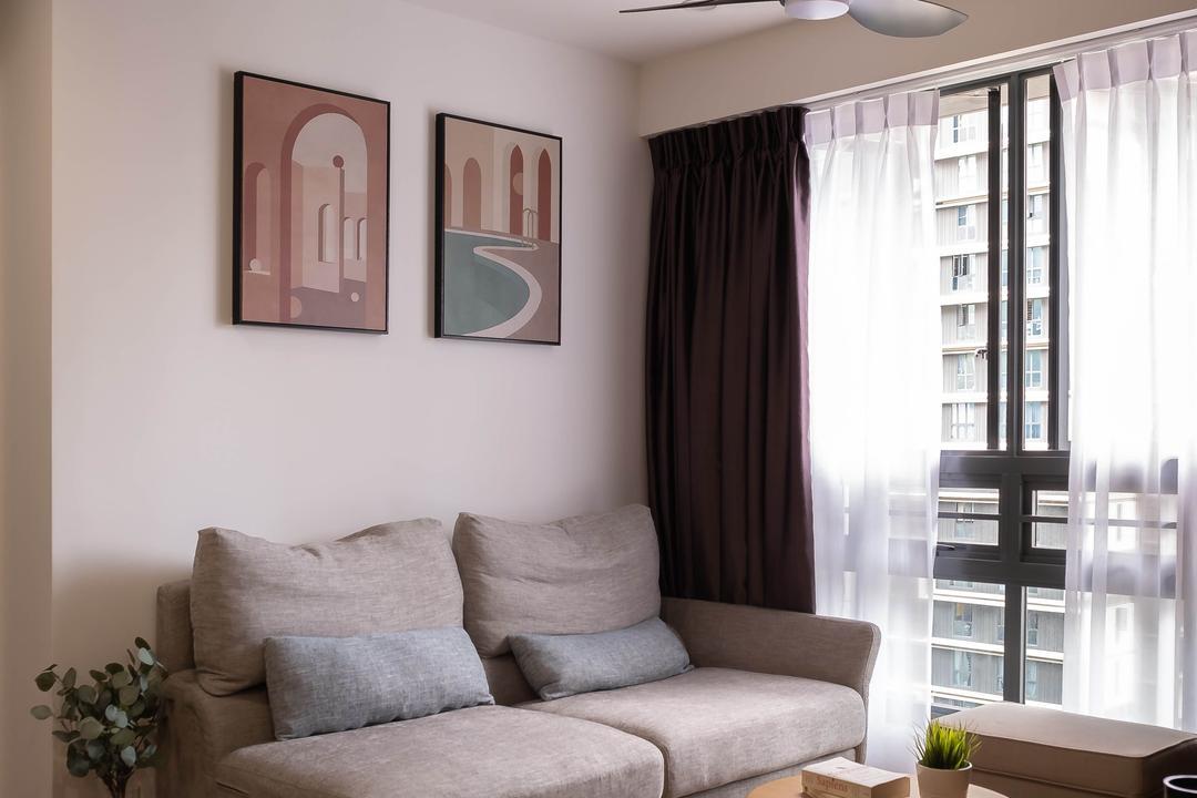 Skyparc @ Dawson Living Room Interior Design 10