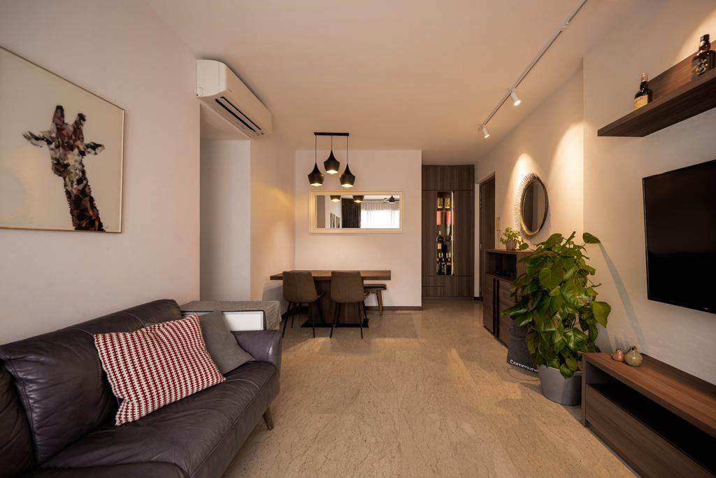Contemporary, Condo, Living Room, Sunglade, Interior Designer, Ovon Design