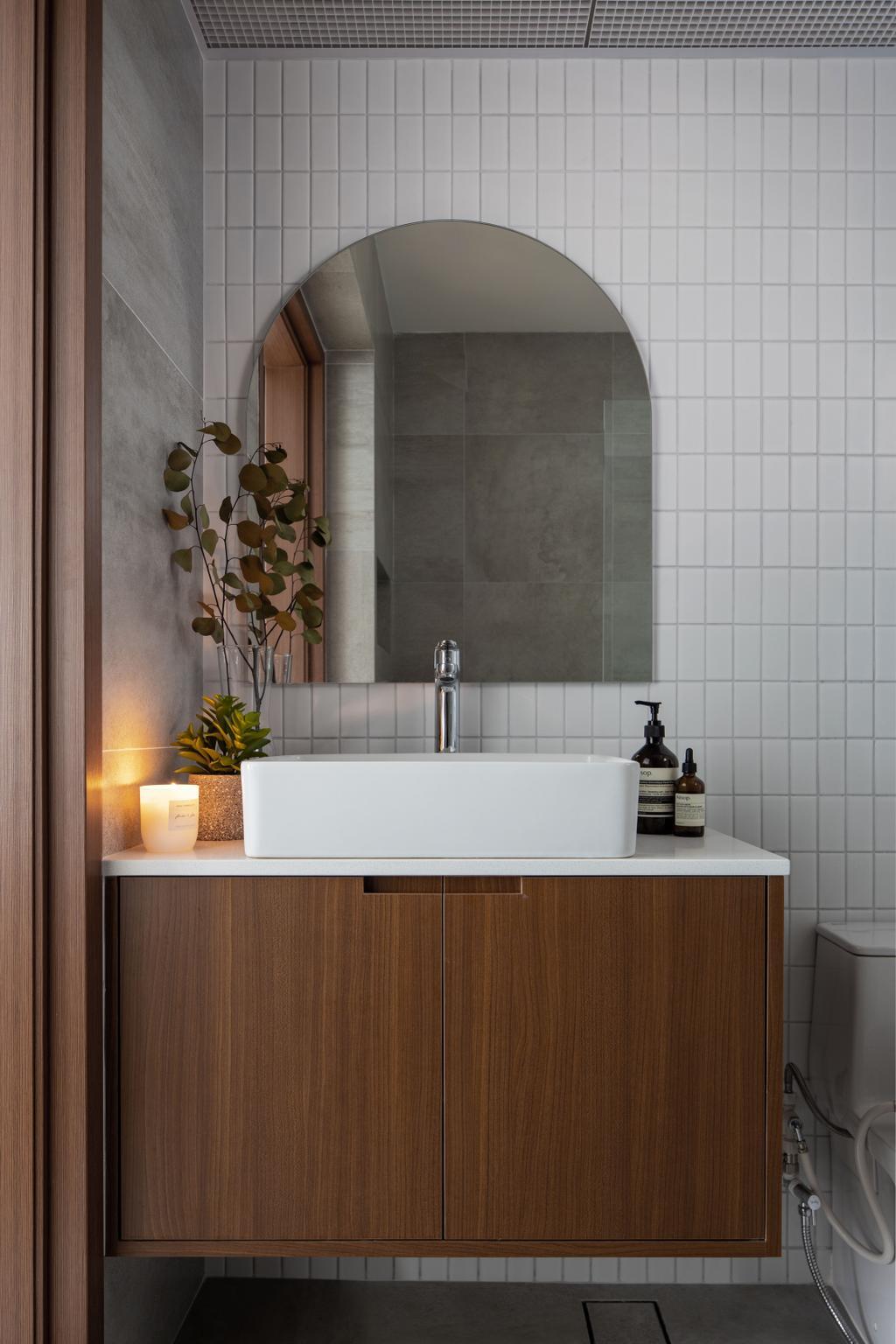Scandinavian, HDB, Bathroom, Canberra Street, Interior Designer, Lemonfridge Studio