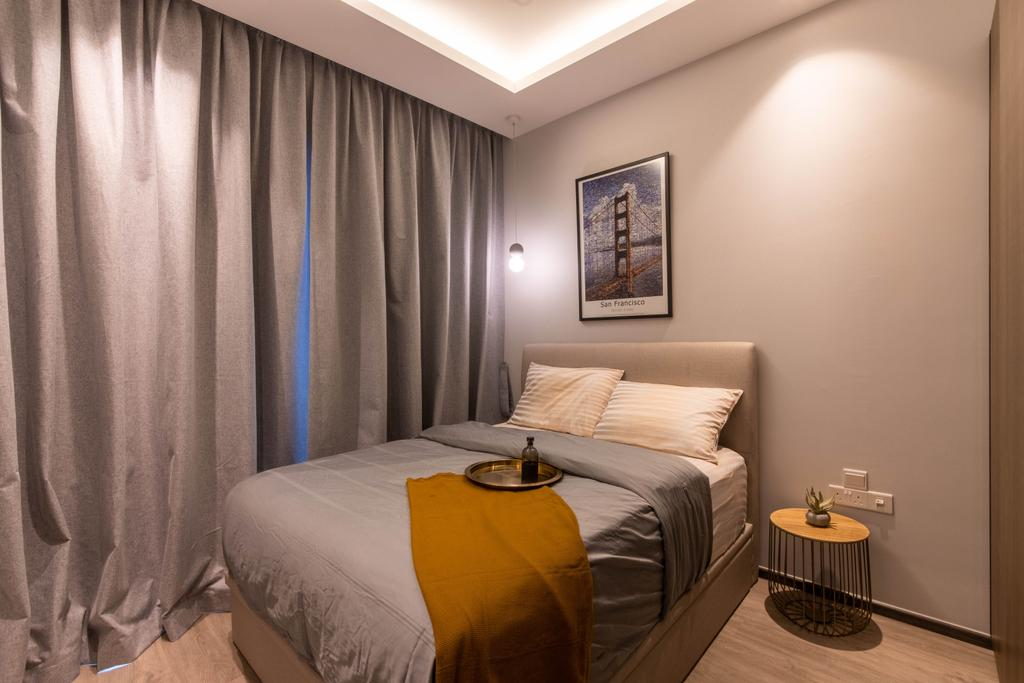 Contemporary, Condo, Bedroom, Forest Woods, Interior Designer, Livspace