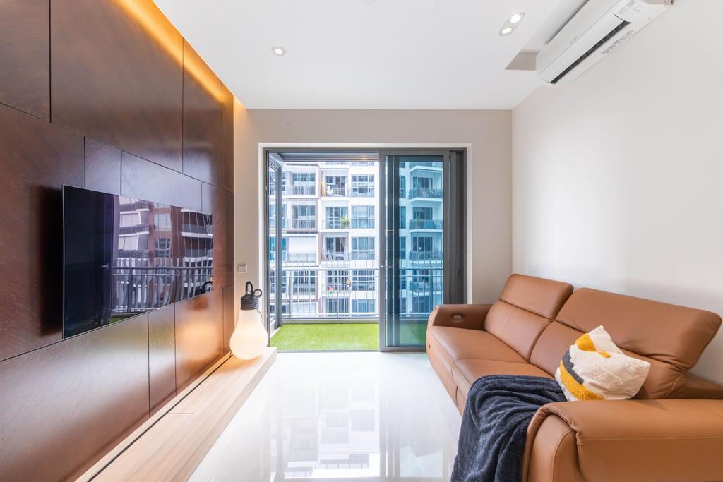 Contemporary, Condo, Living Room, Forest Woods, Interior Designer, Livspace