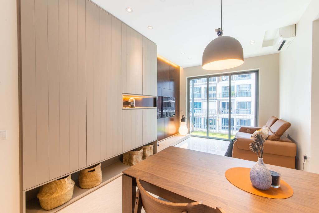 Contemporary, Condo, Dining Room, Forest Woods, Interior Designer, Livspace
