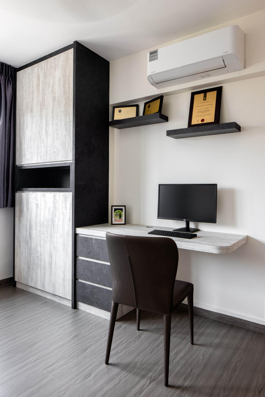 Contemporary, HDB, Study, Jurong East Street 52, Interior Designer, Apex Studios