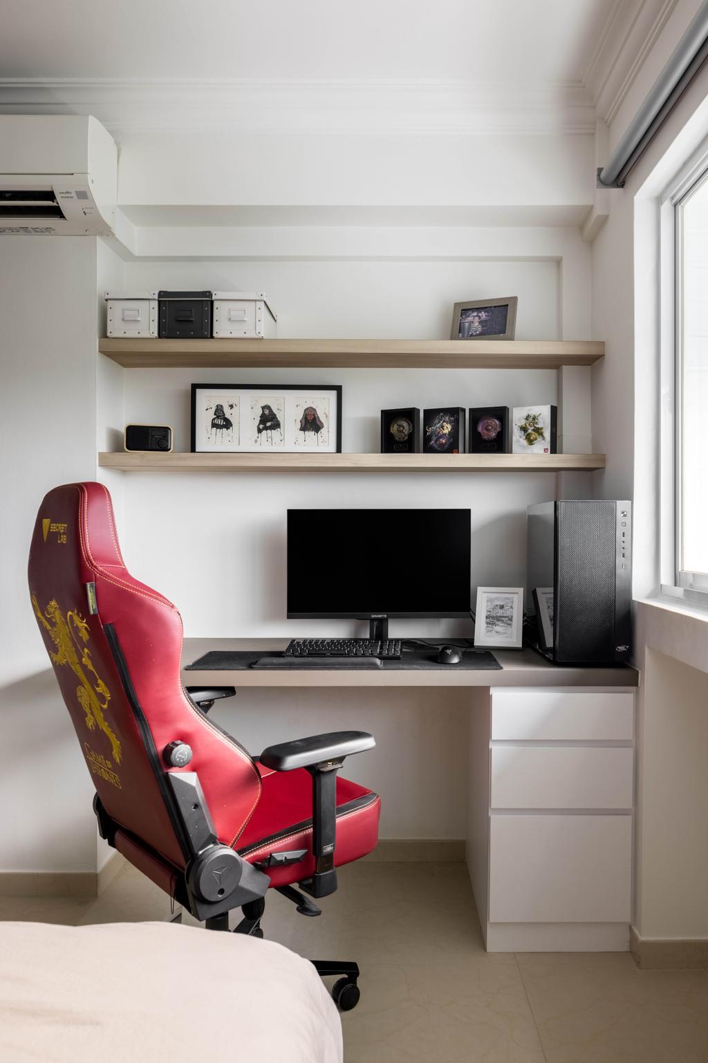 Contemporary, HDB, Study, Tampines Street 43, Interior Designer, Apex Studios, Scandinavian