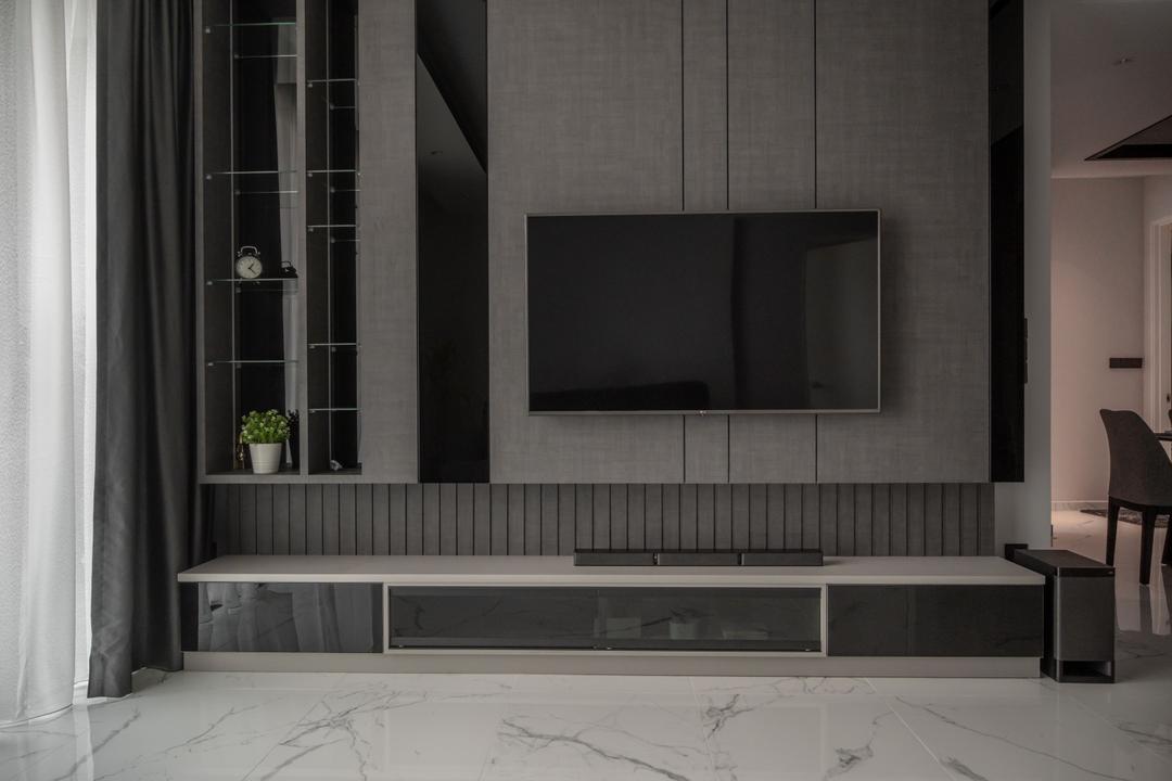 East Parc, KL, ZOGE Interior & Build (M) Sdn. Bhd., Modern, Living Room, Condo