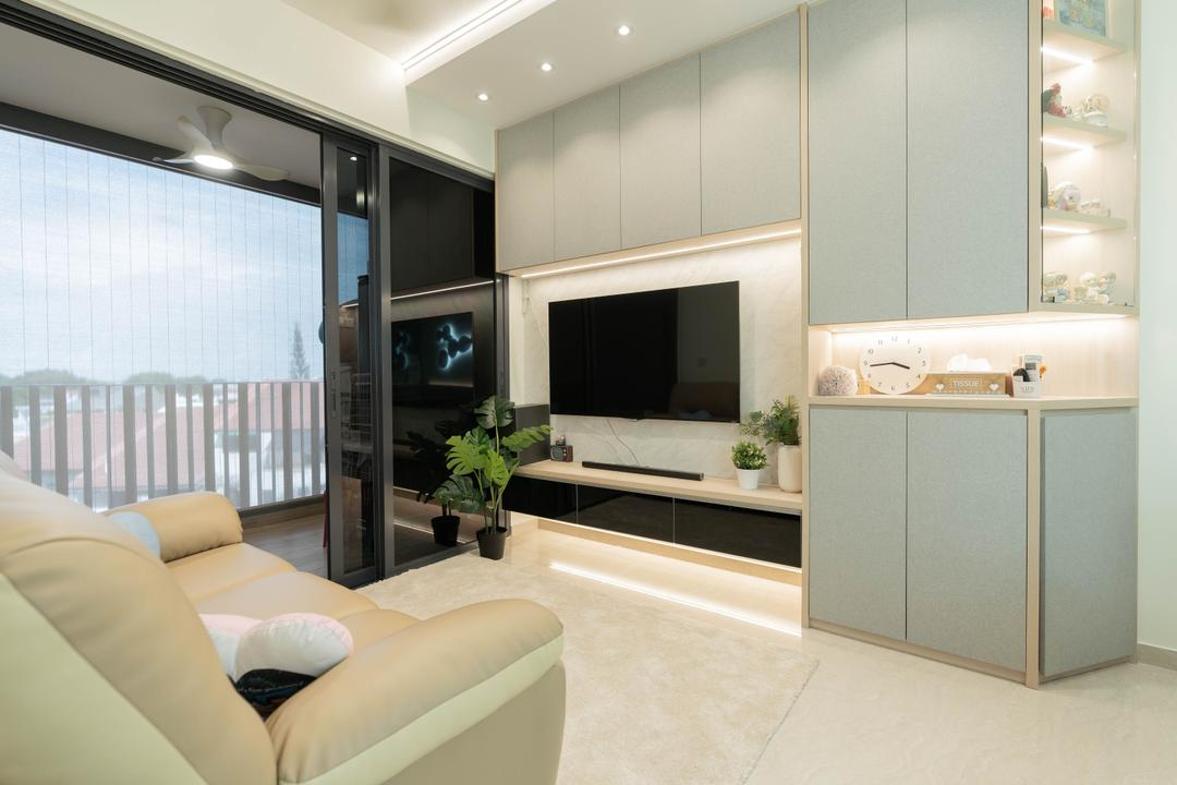 Grandeur Park Residences Living Room Interior Design 12