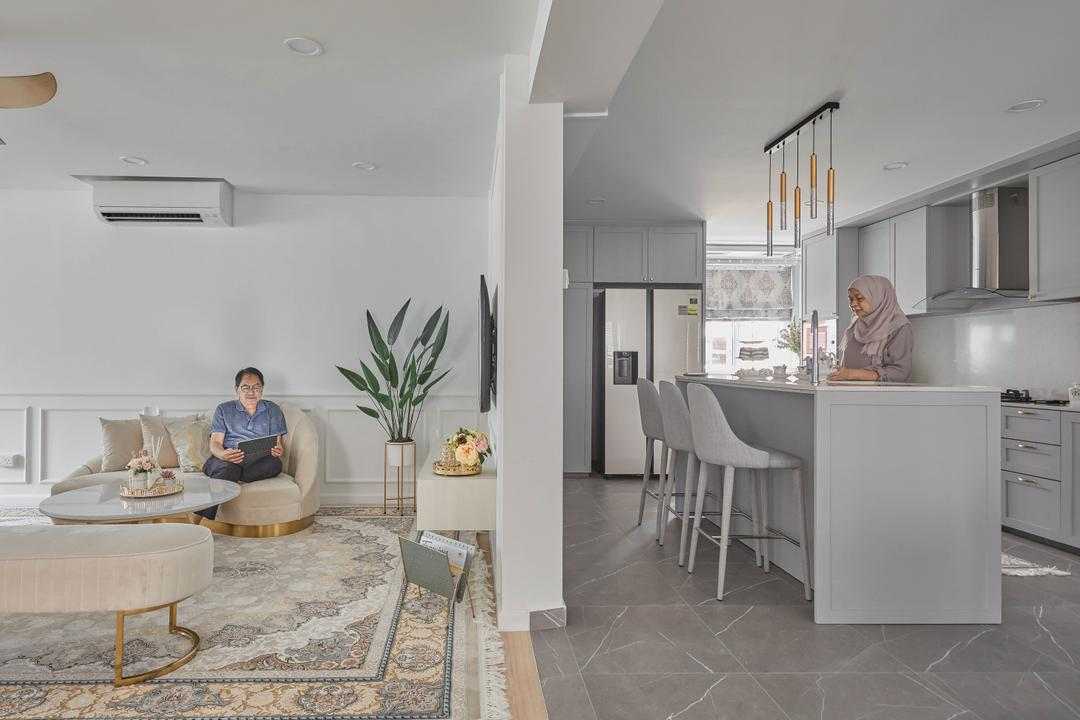 Tampines Street 33, The Interior Lab, Scandinavian, Living Room, HDB