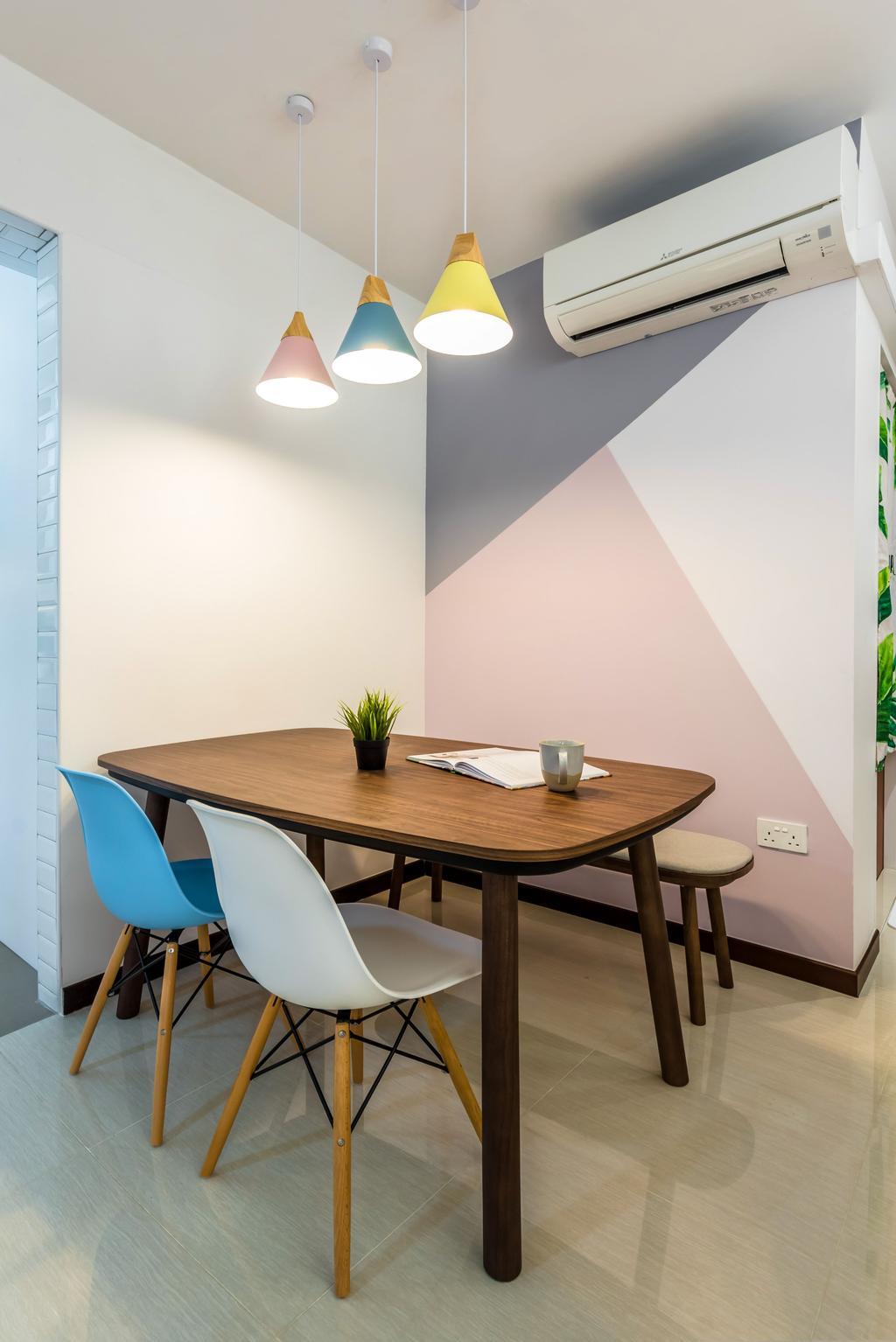 Scandinavian, HDB, Dining Room, Tampines North Drive 1, Interior Designer, Archive Design, Contemporary